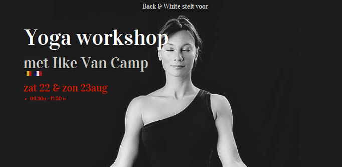 Flyer Ilke Van Camp Yoga